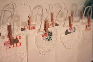 Goodie bags from my Favourite things party.