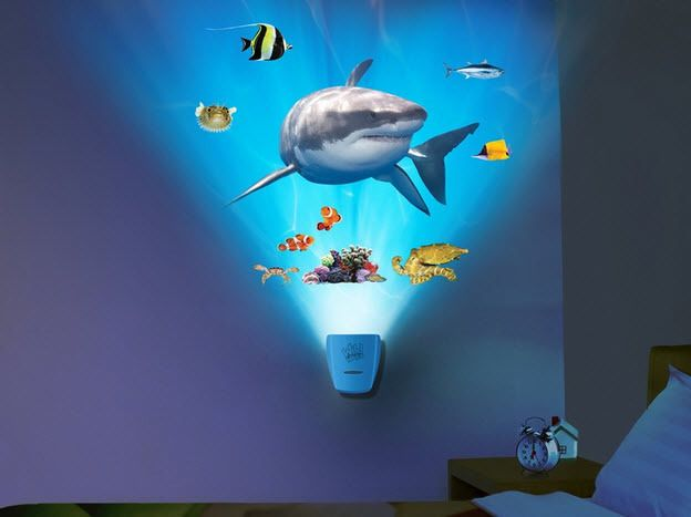 Wild Walls SHARK Wall Stickers 12 Decals With LIGHT U0026 SOUNDS Under Sea Fish