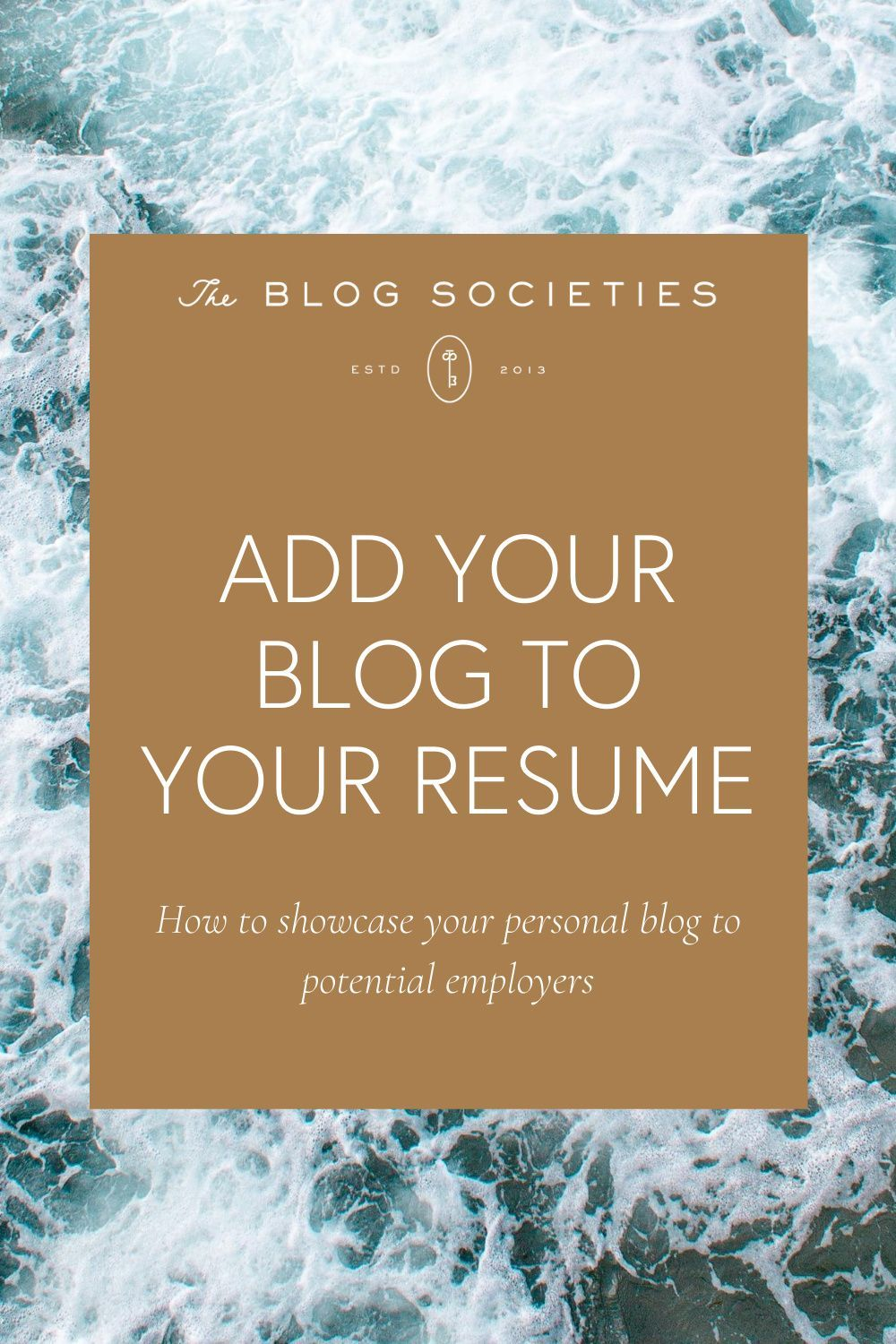 How To Add Your Blog To Your Resume The Blog Societies