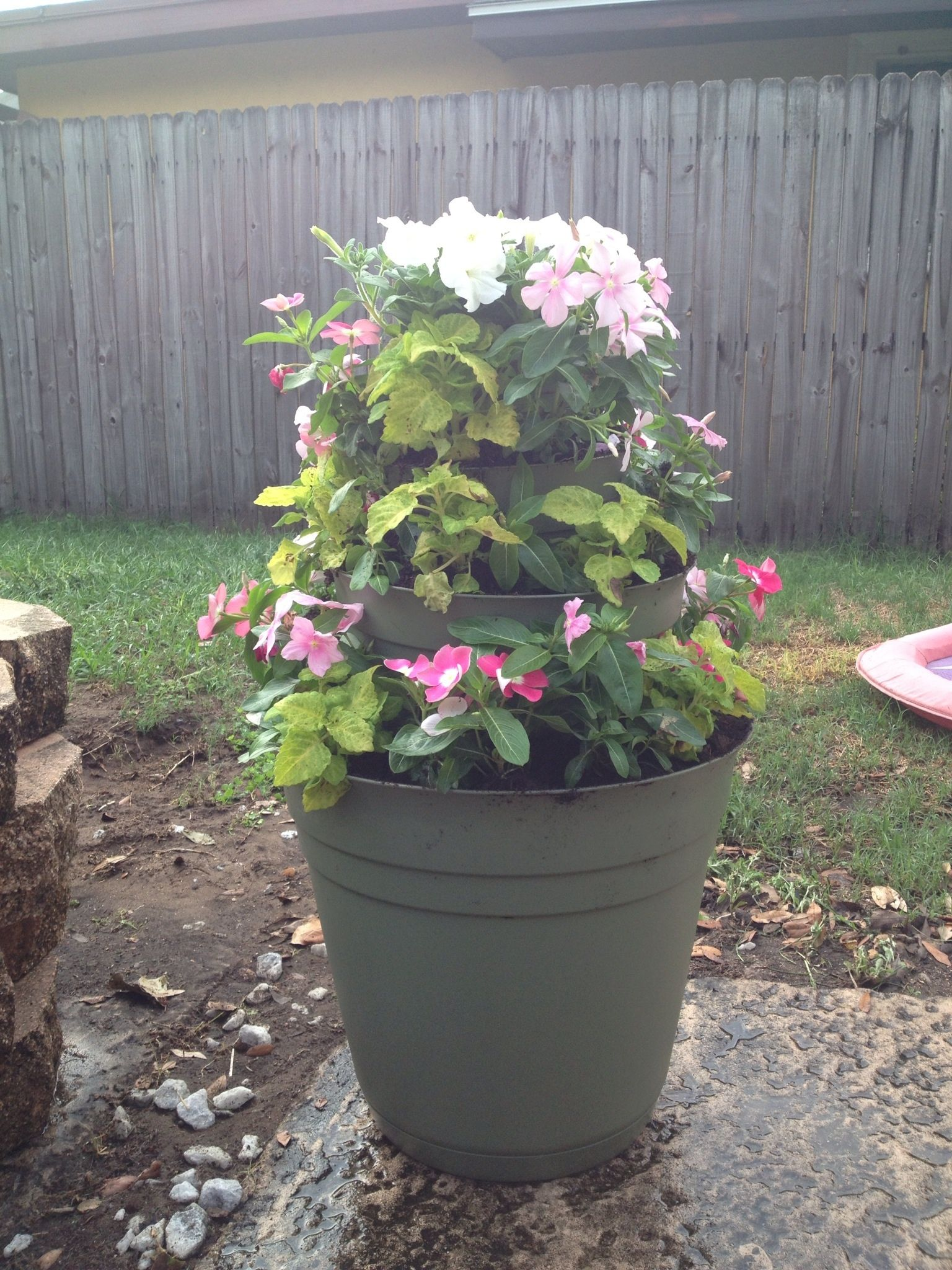 Three Tier Flower Pots 3 Tier Flower Pot My Yard Pinterest Garden Ideas
