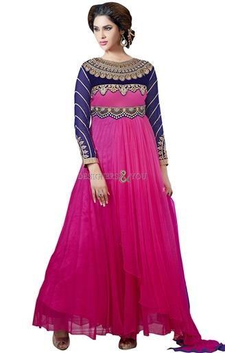 fe29fc486 Karachi Fashions Gown Style Long Designer Pakistani Suit For Teen Girls