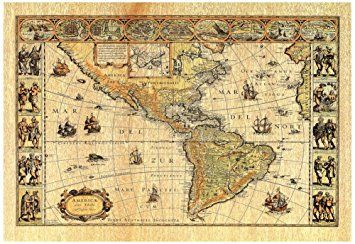 Amazon old world map photo 2 art print poster lithograph amazon old world map photo 2 art print poster lithograph gumiabroncs Image collections