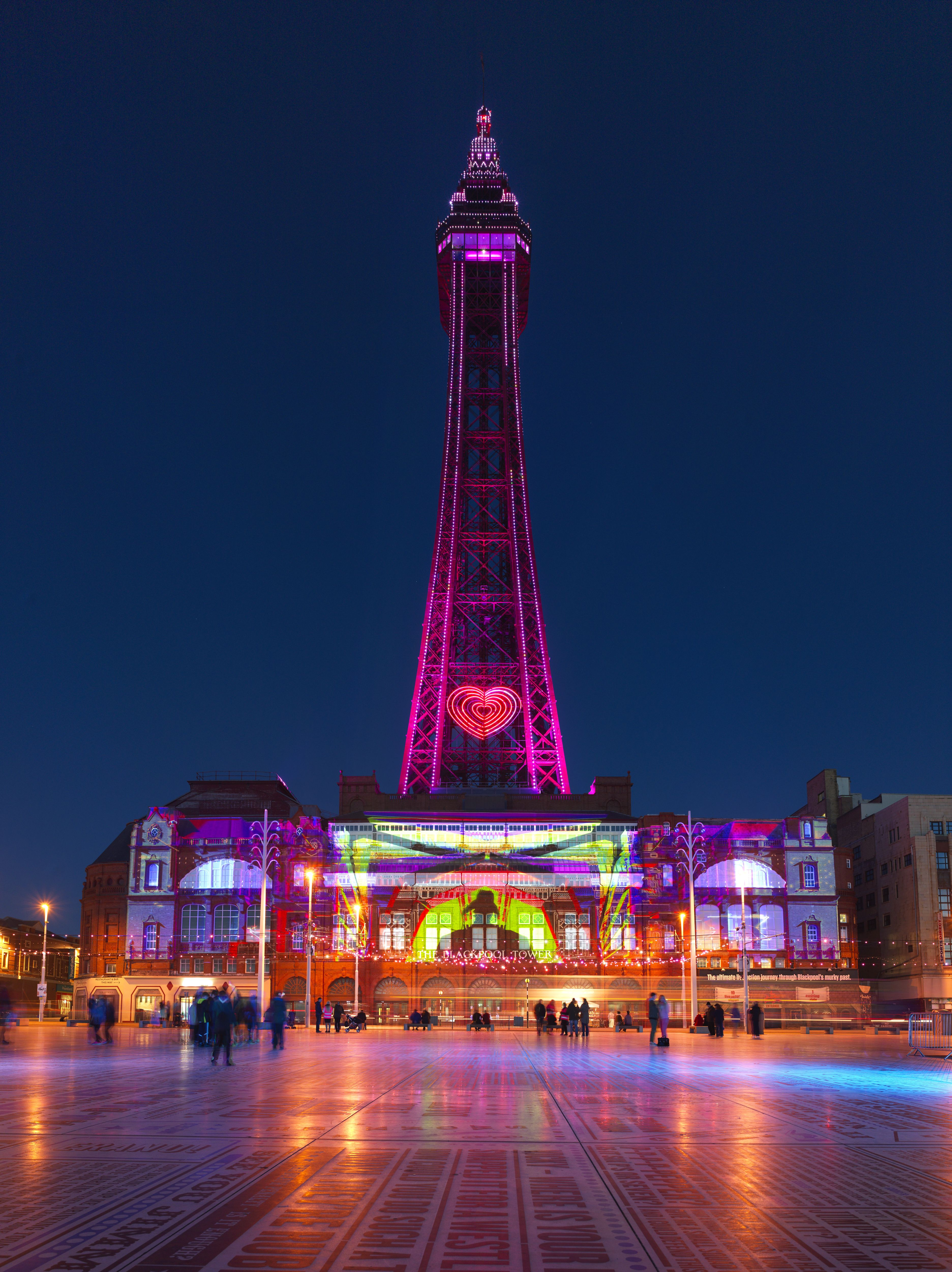 Illuminating the Blackpool Tower with Lightpool projection