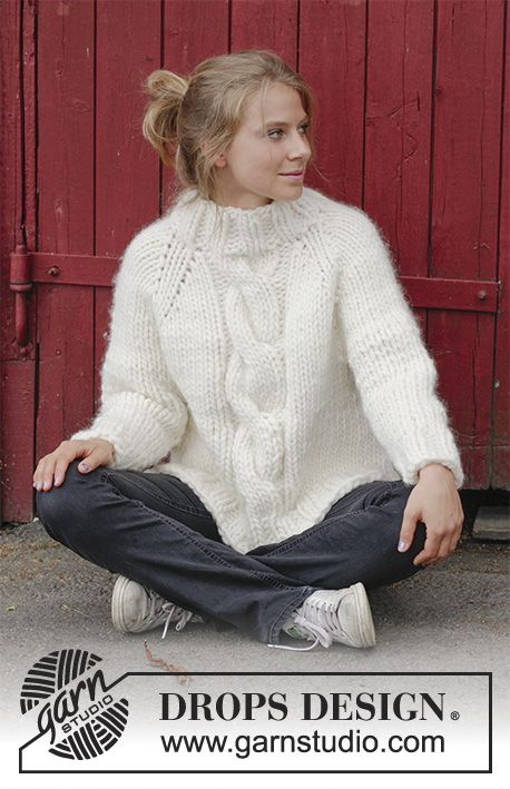 Mont Blanc - Knitted jumper with raglan, cables, high collar and ...
