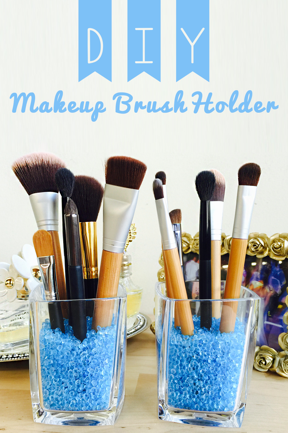 Use our fragrant beads to make your own makeup brush