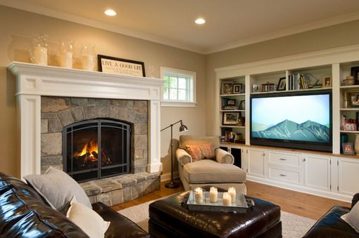 Small Living Room With Fireplace And Tv perfect layout for our living room. large tv and fireplace in