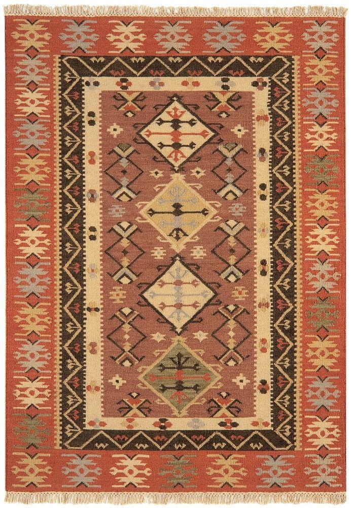 Details zu Teppich Wohnzimmer Orient Carpet persisches Design KELIM - wohnzimmer rot orange