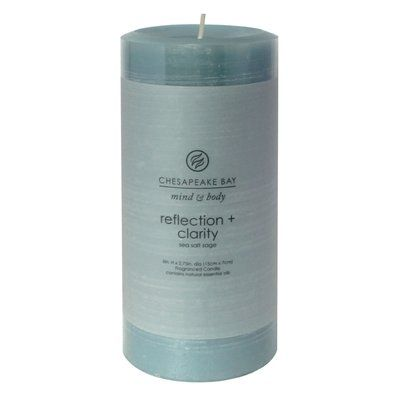 Chesapeake Bay Candles Mind & Body Reflection and Clarity Pillar Candle (Set of 4) Size: