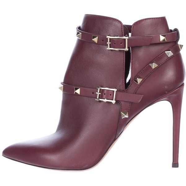 Pre-owned - Rockstud leather ankle boots Valentino s8FfDgT
