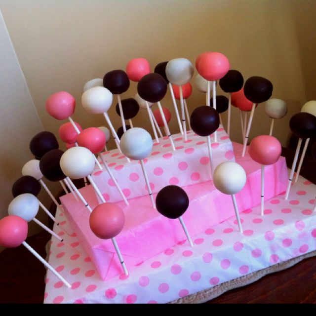 Cake Pops For Baby Shower Stand Made Of Styrofoam And Tissue