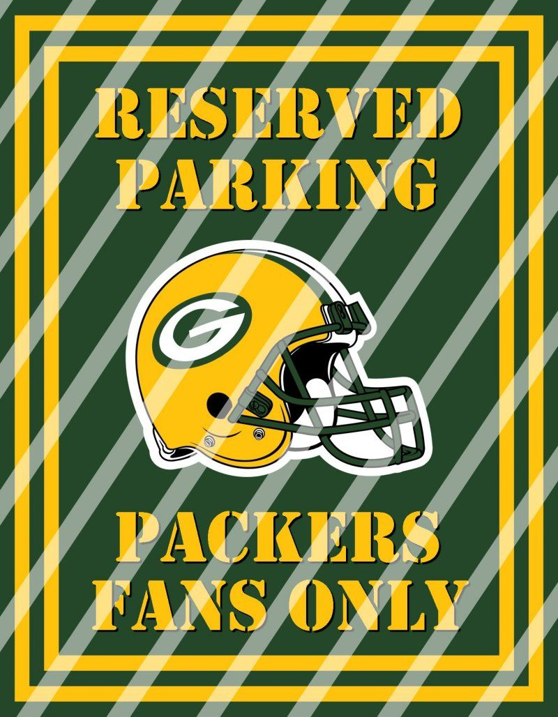 Green Bay Packers Parking Wall Decor Sign #3 (digital or shipped ...
