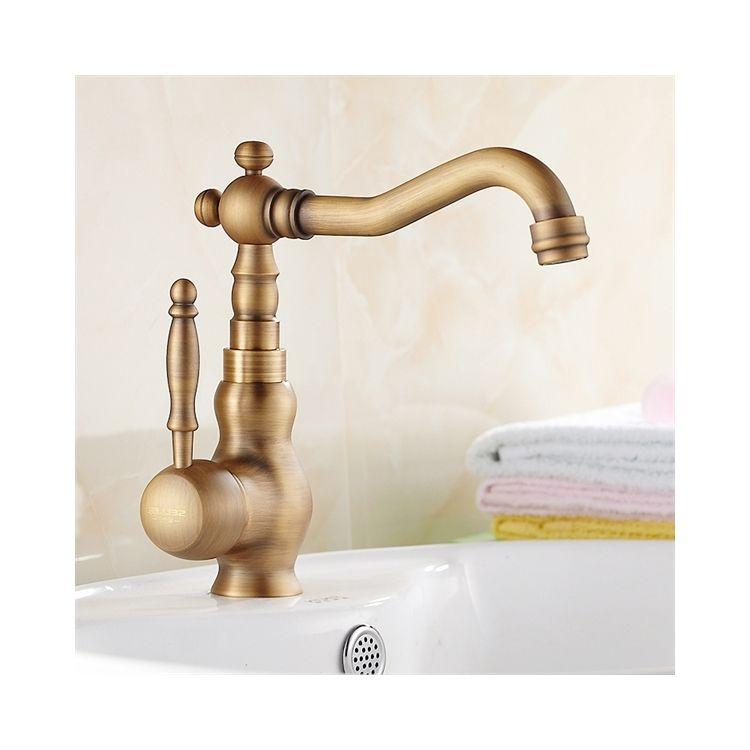 洗面蛇口 バス蛇口 冷熱混合栓 真鍮製 ブロンズ色 水道 蛇口 蛇口