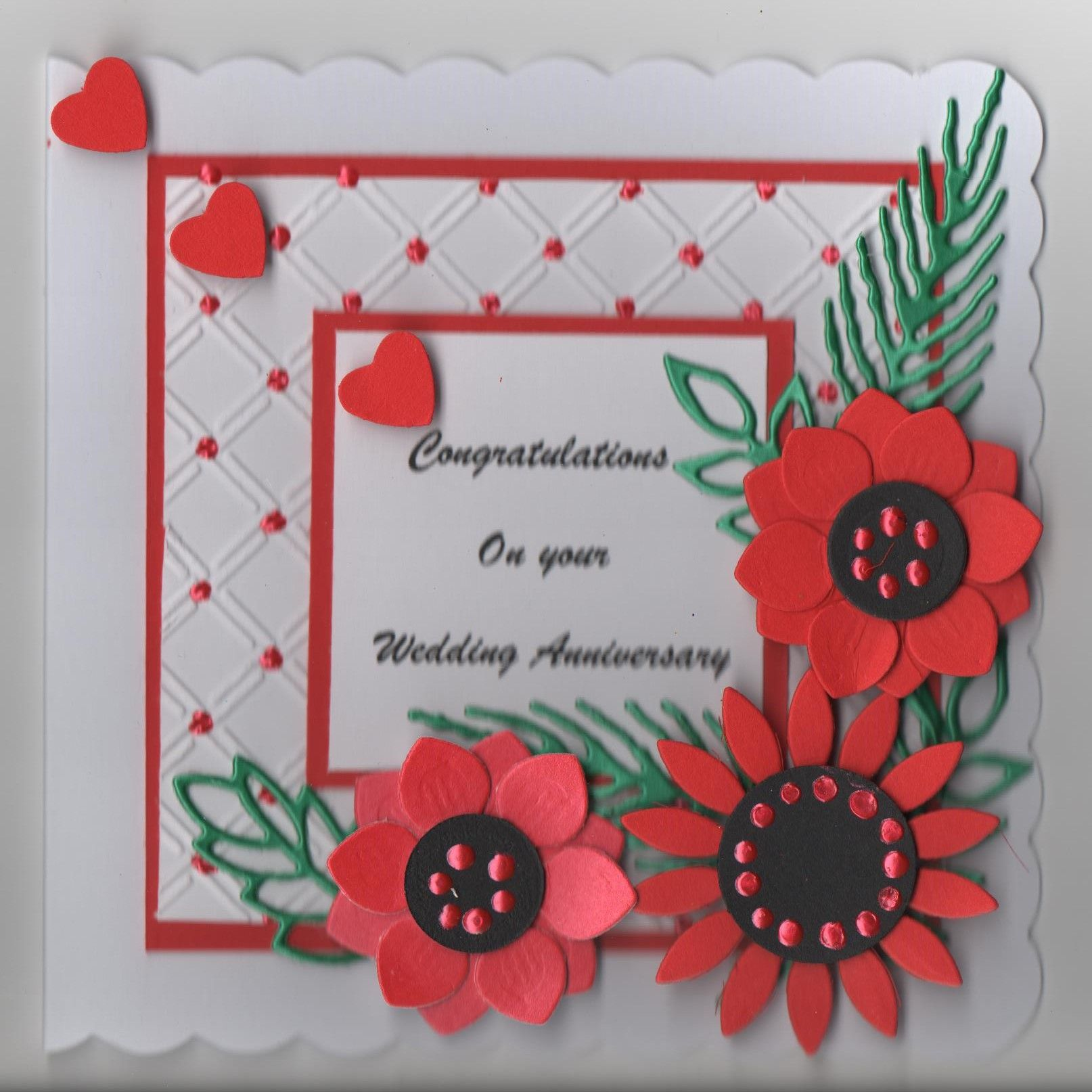 Hand Made Anniversary Card Card Making Cards Handmade Anniversary Cards