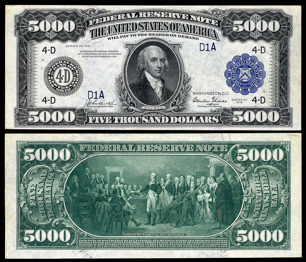 5 000 Federal Reserve Note Series Fr D