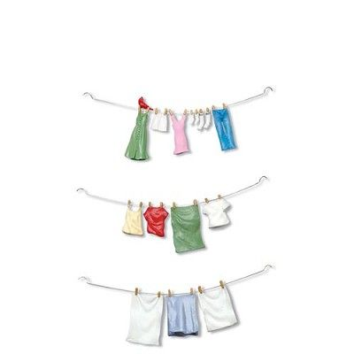 """Hung Out To Dry  Set of 3    Size: 5.25""""  Introduced December, 2008  Retired December, 2009    Your Price: $15.00  On sale: $12.75"""