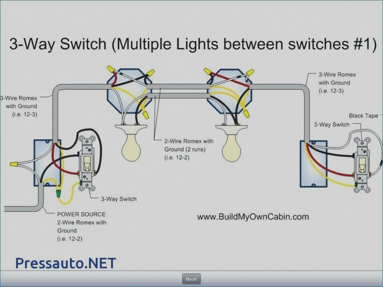 Wiring Diagram For Three Way Switch With Multiple Lights