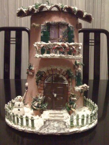 Tegole decorate natalizie wh33 regardsdefemmes for Sedie decorate a decoupage