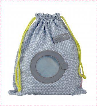 sac linge mouill bleu machine laver diy baby pinterest linge bleu et sac. Black Bedroom Furniture Sets. Home Design Ideas