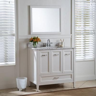 Home Decorators Collection Claxby 36 In Vanity In Cream