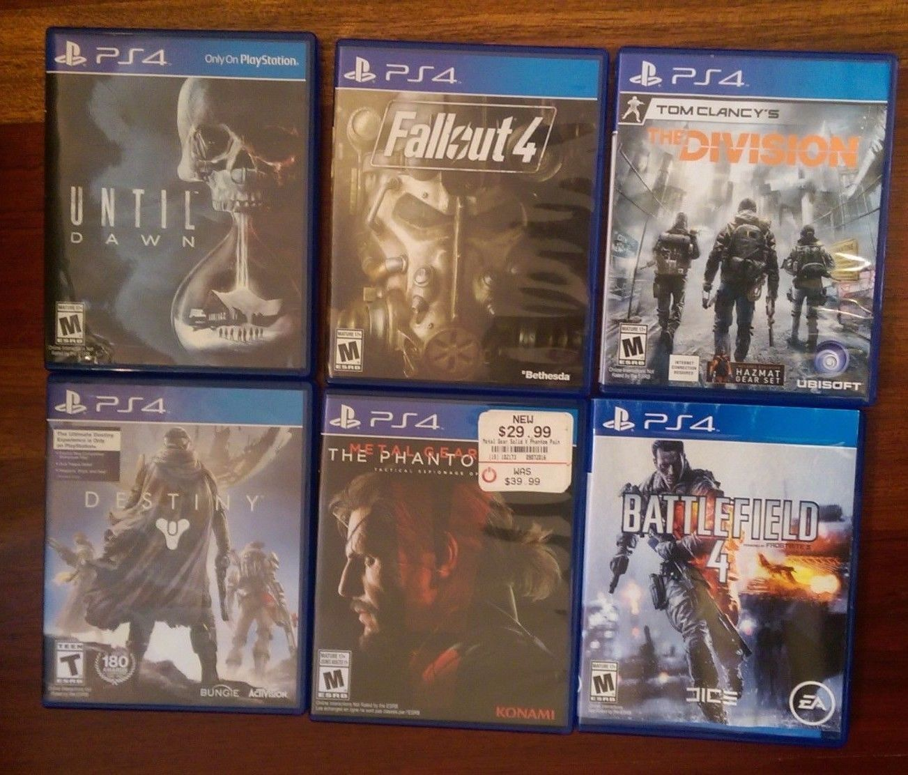 PS4 Lot of 6 Games - Fallout 4 MGS:V BF4 The Division Destiny & Until Dawn https://t.co/8eZsmxhUDt https://t.co/mBFhYJbucd