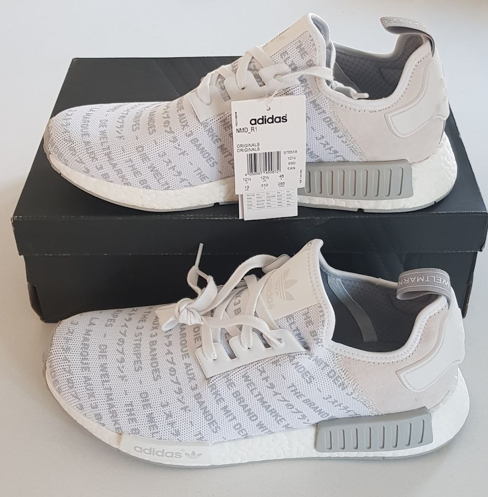 Adidas nmd r1 whiteout blackout boost trainers sneaker ltd
