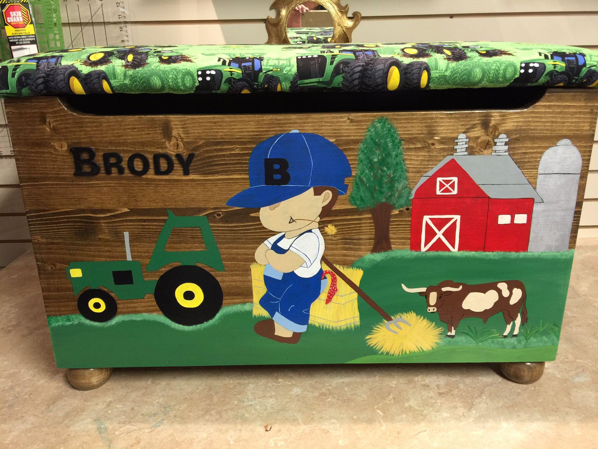 Brodys farm boy toy box boys toy box