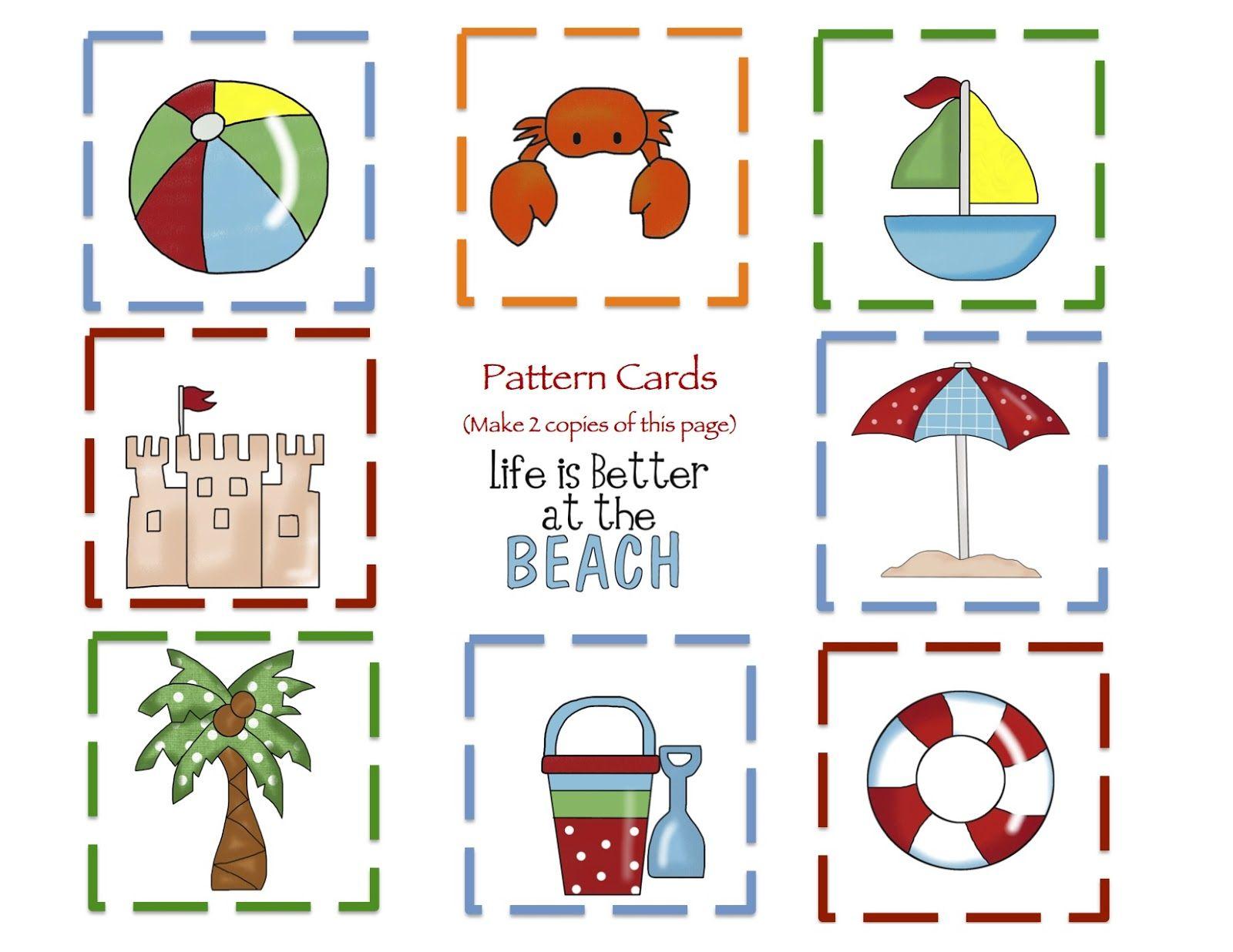 Preschool Printables Beach