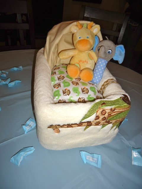 Sisters on Blackwell: Baby Carriage Diaper Centerpiece Tutorial