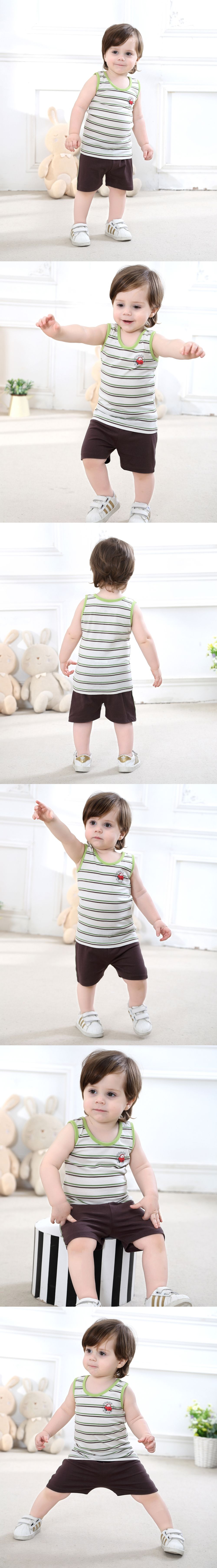 7ba89d8fd Baby Boy Clothing Set 1-3 Years-Old Vest Set Shorts Casual Wear in ...