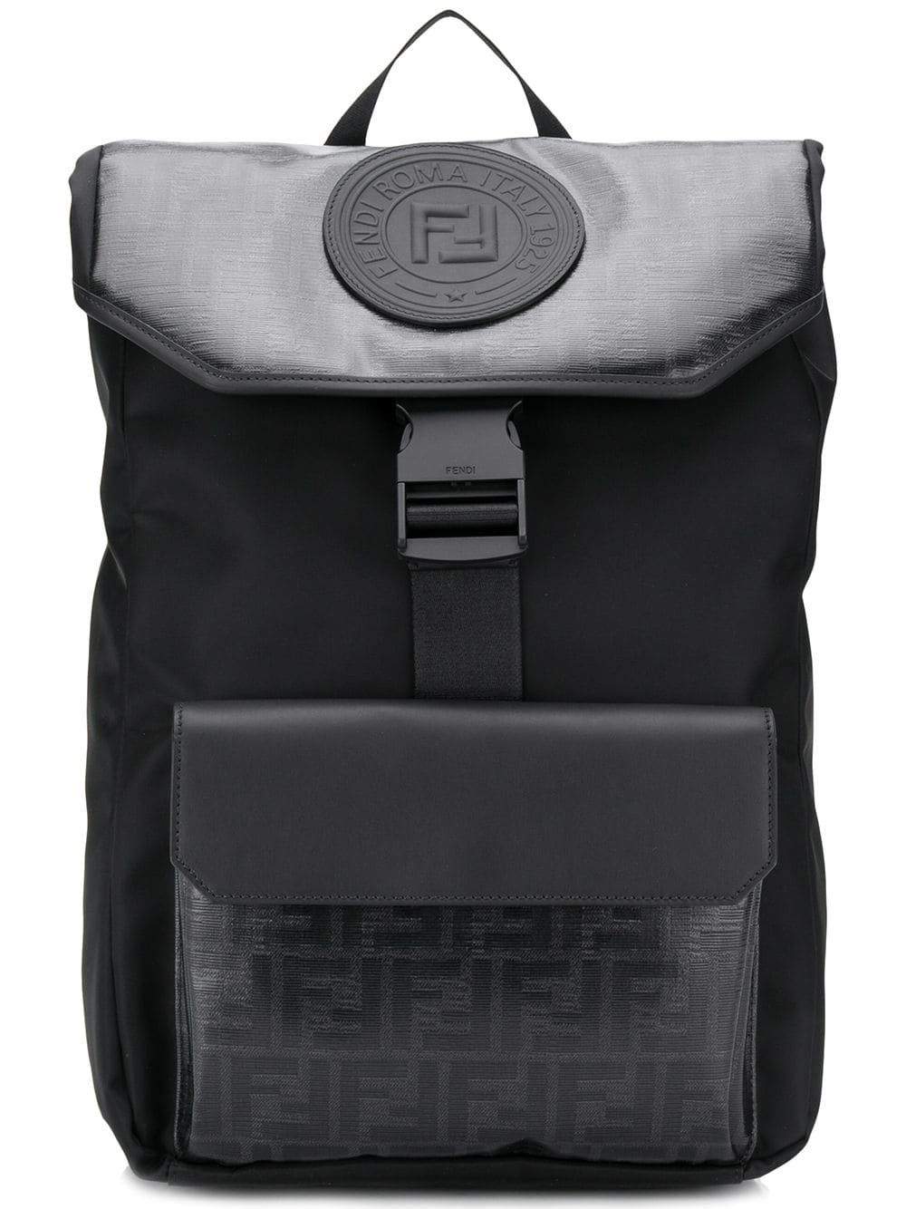 49d298c36 FENDI FENDI MONOGRAM BACKPACK - BLACK. #fendi #bags #leather #backpacks