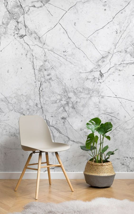 Mural de pared m rmol blanco con textura aficionados - Papeles pintados para pasillos ...