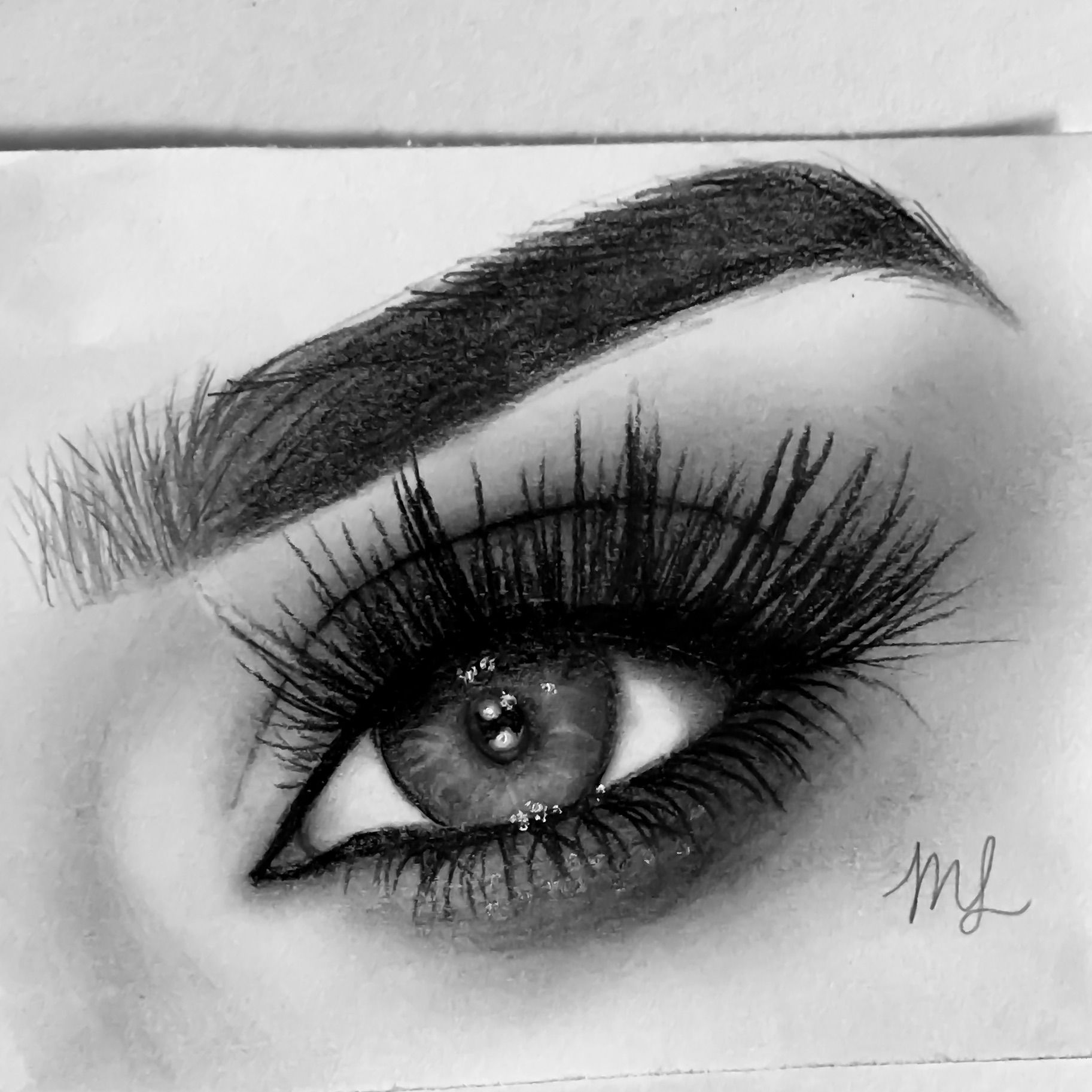 Eye Drawing: Another Eye Drawing Done With Graphite Pencils! #eye #art