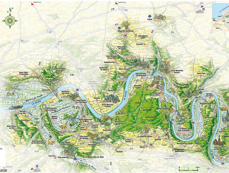 Carte Illustree De La Seine Maritime Actual Cartes Illustrees