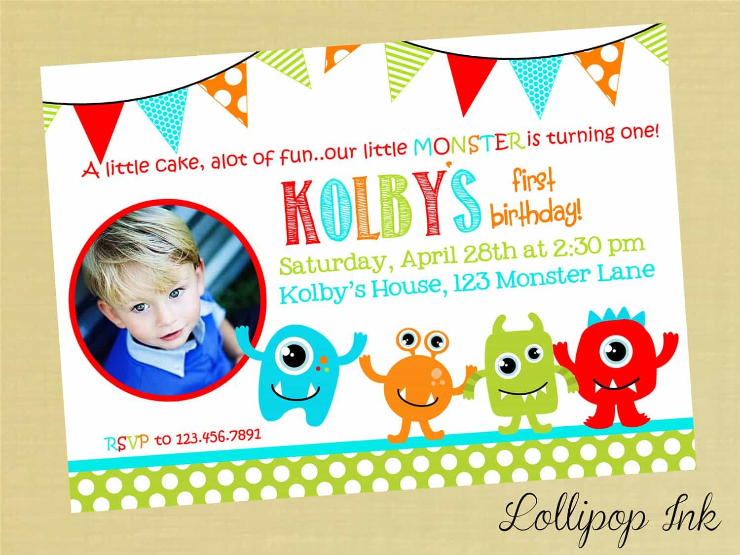 awesome Create Easy Monster Birthday Invitations Ideas Check more at ...