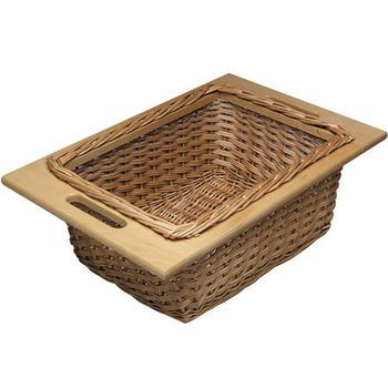 Pull Out Wicker Storage Baskets For Kitchen Cabinet House Plans