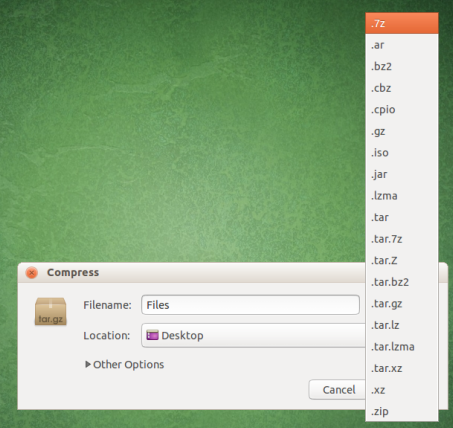 Install and use 7-Zip compression in Ubuntu / Linux Mint