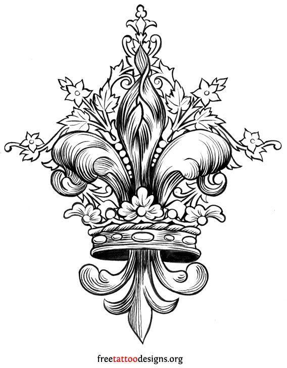 Fleur de lis tattoo design more fleur de lis tattoo designs fleur de french fleur de lis - Dessin fleur de lys ...