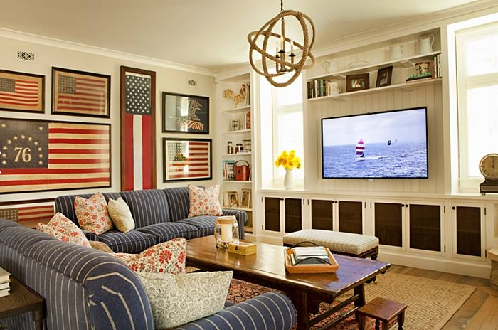Photo of Decorating with Red, White, and Blue – Town & Country Living
