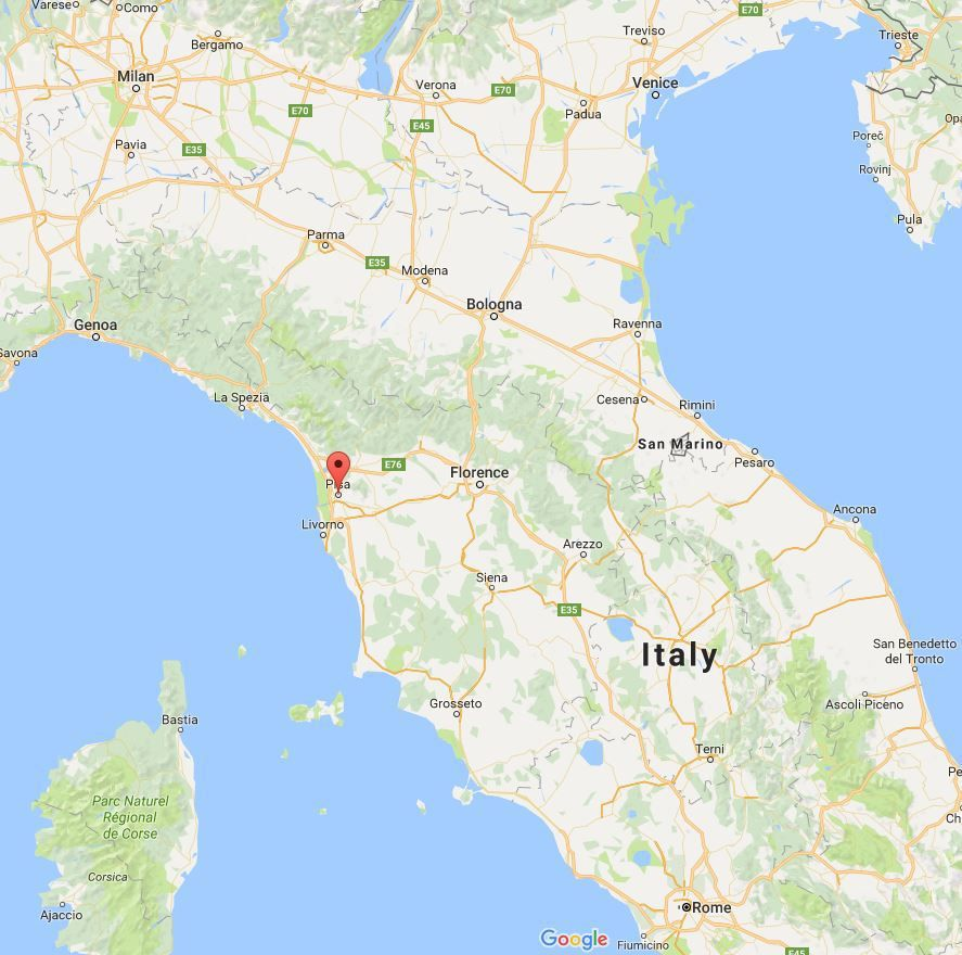 Map Of Pisa In Italy Interesting Maps Of Italy Pinterest - Map of ancona italy