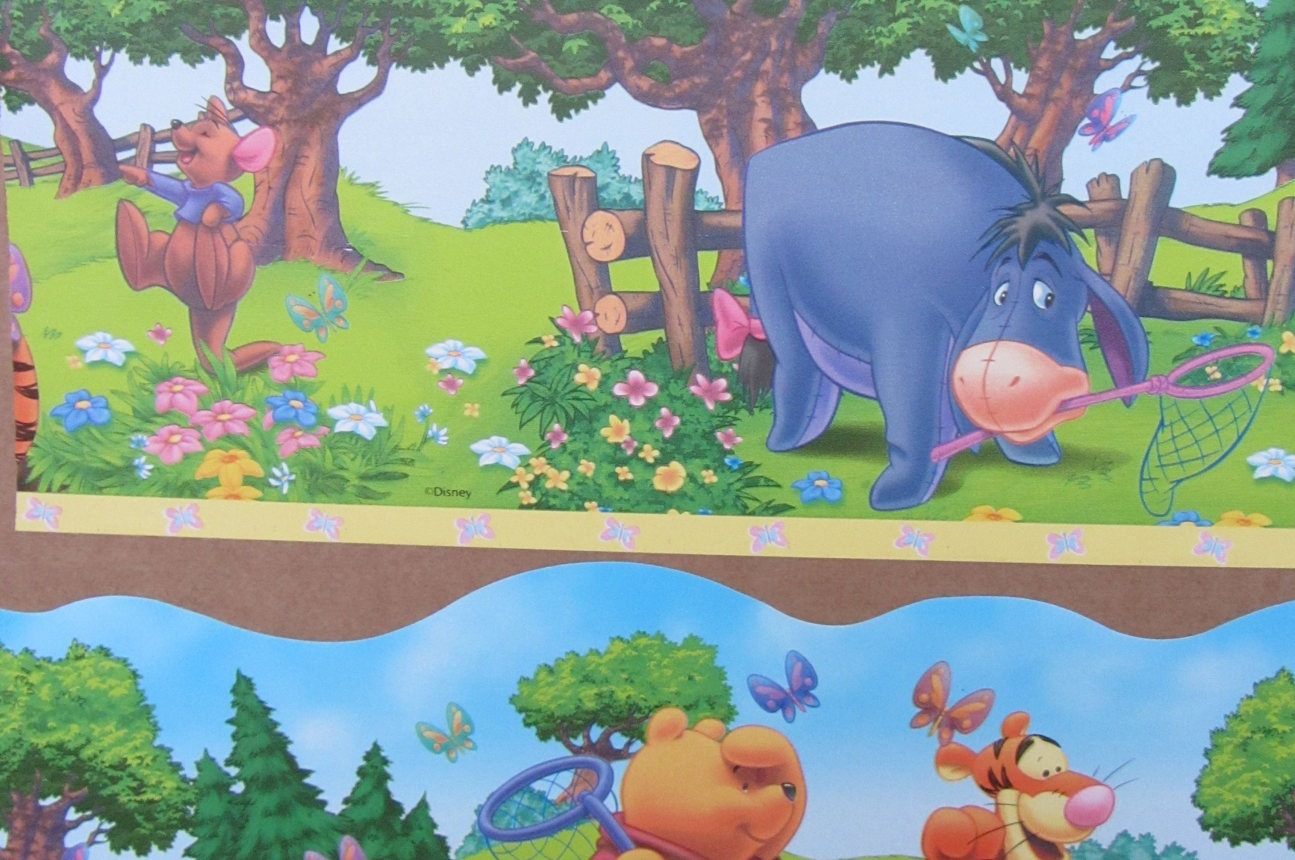 Free Download Winnie The Pooh Shaped Wallpaper Border Self Inside