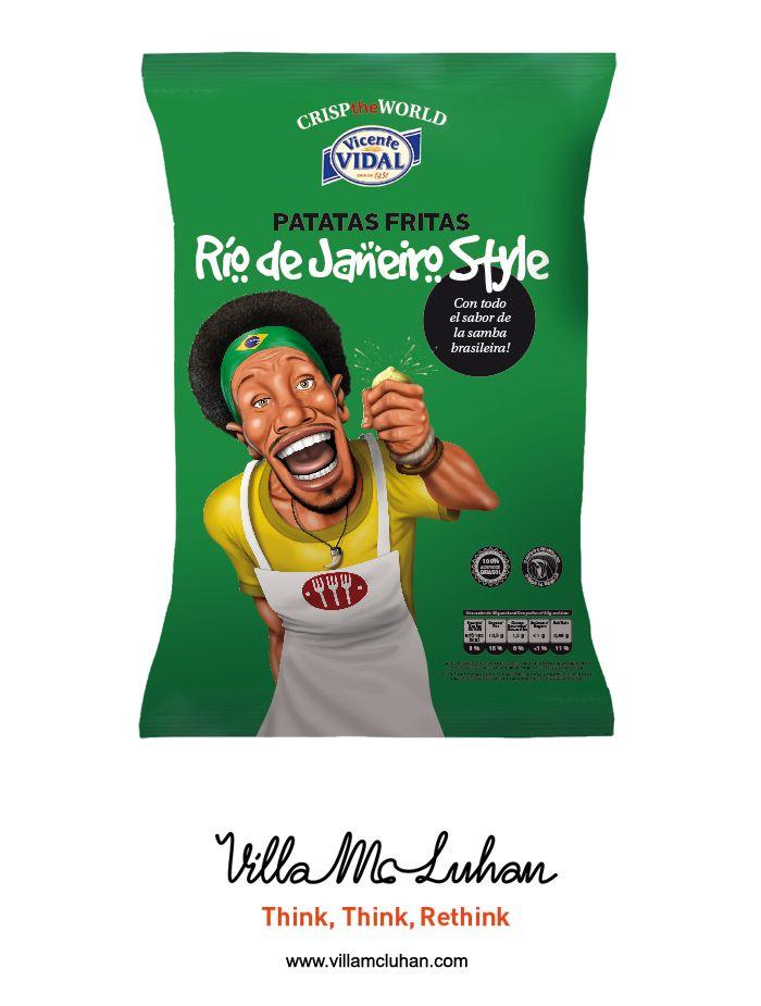 'Crisp the World', de Vicente Vidal, Premio al Mejor Packaging 2014 en 'El Chupete' - Villa McLuhan