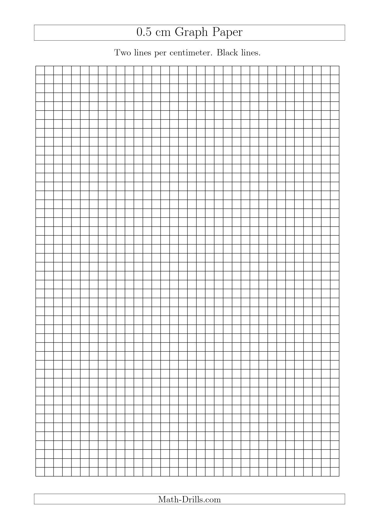 The 0 5 Cm Graph Paper With Black Lines A4 Size A Math Worksheet From The Graph Paper Page