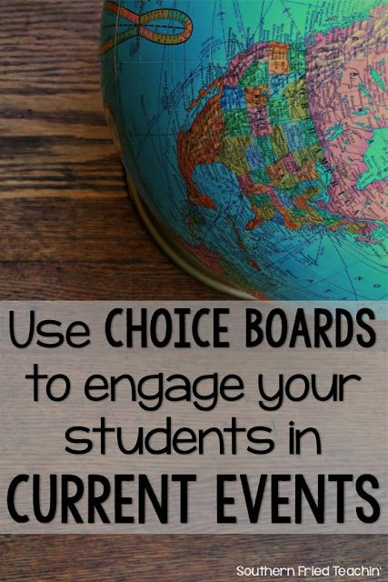 Hear ye! Hear ye! Teaching current events doesn't have to be boring. Engage and challenge your students in local and world events by using choice boards, which are perfect for the classroom because they allow for creativity and differentiation.