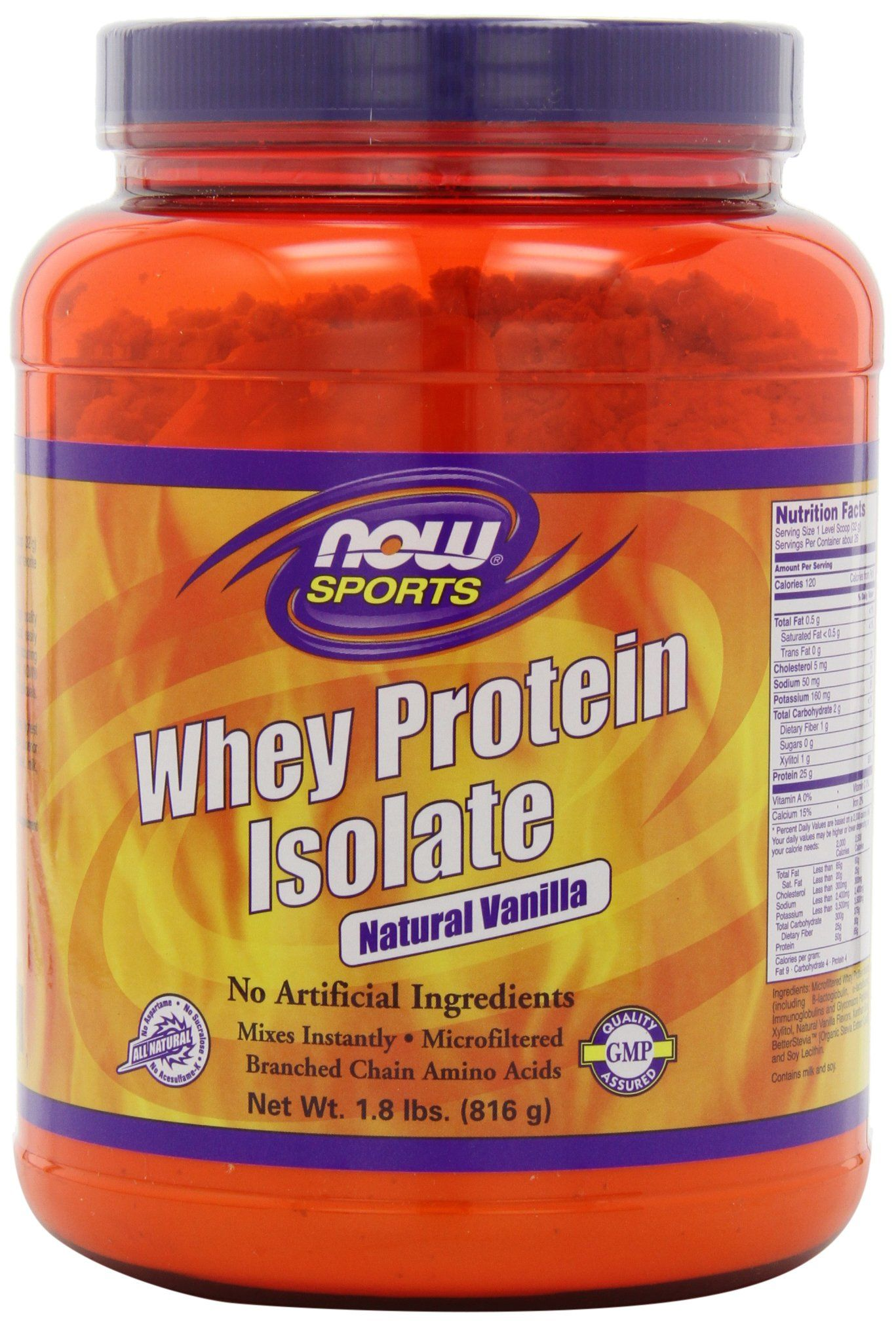 NOW Foods Whey Protein Isolate Vanilla, 1.8 LB-  labdoor.com- Quality Ranking: 2/73; Value Ranking: 25/73, 22g protein@ $2.03/serving