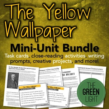 The Yellow Wallpaper Worksheets Handouts Activities Yellow Wallpaper Pre Reading Activities Close Reading Passages