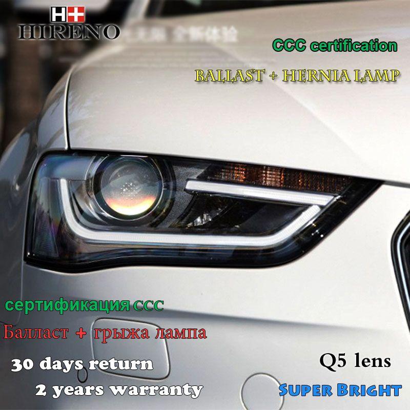Hireno Car Styling Head Lamp For 2013 16 Audi A4 B9 Headlights Led Headlight Assembly Drl Angel Lens Double Beam Hid Led Headlights Headlight Assembly Audi A4
