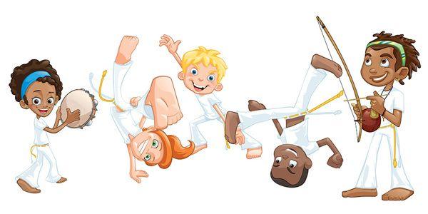Capoeira Characters On Behance Roda De Capoeira Jogo De Capoeira Desenhos Fofos E Faceis