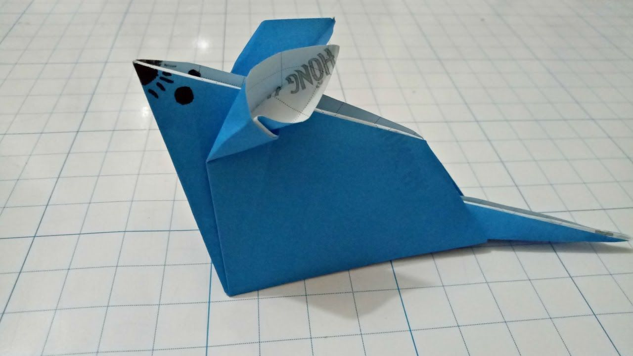 Diy Origami A Paper Mouse Easy Fold A Mouse How To Make A Mouse Origami Pinterest Diy And