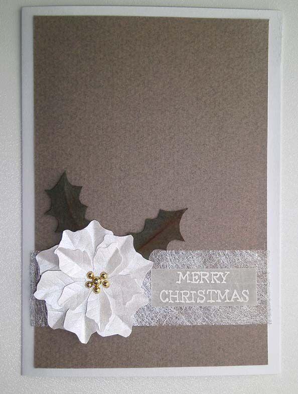 card poinsetta christmas