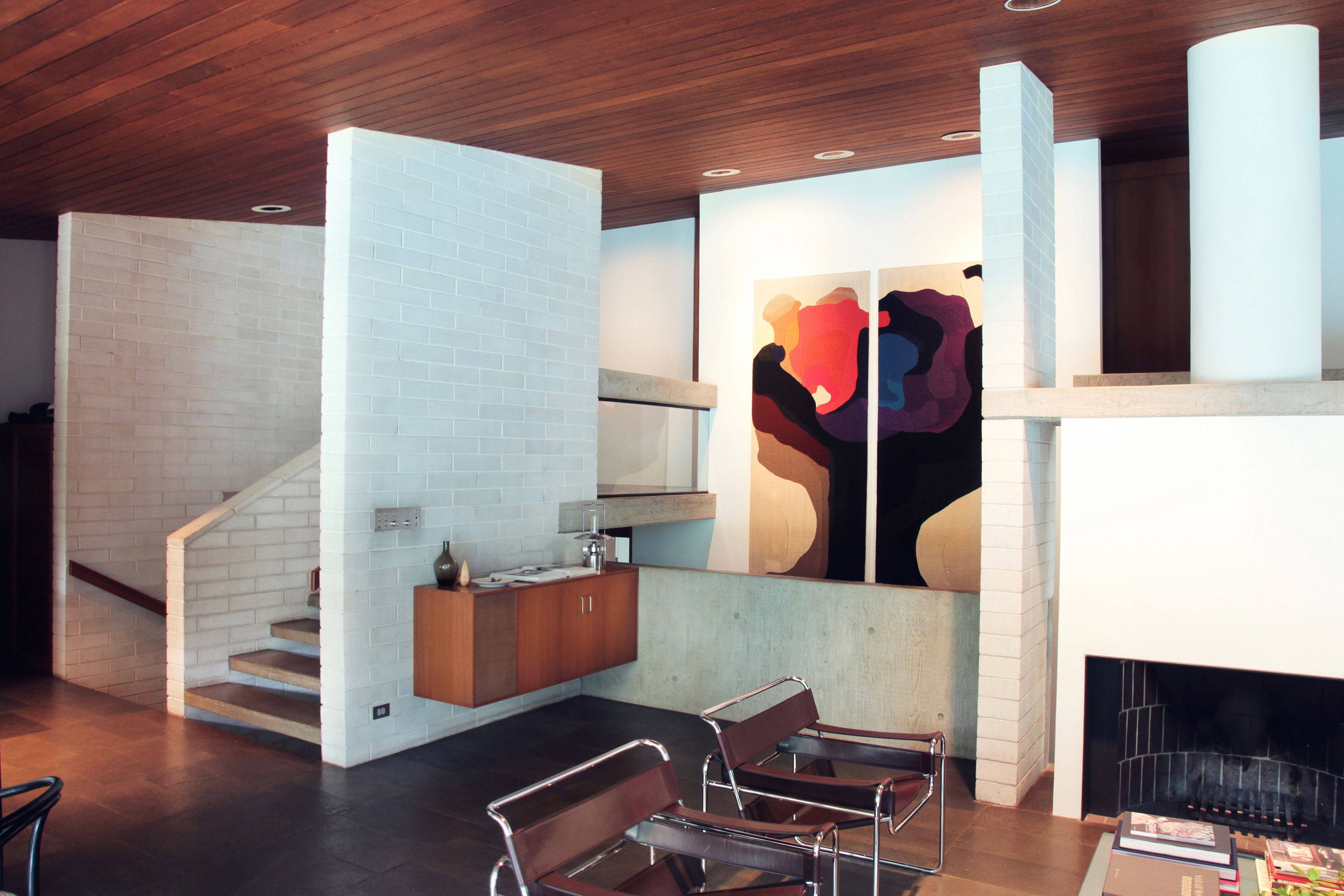 Modernist interior of the Gissing House Wahroonga